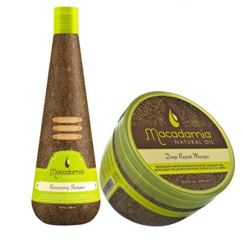 Macadamia Kit shampooing cheveux très abîmés 300ml et masque 470ml