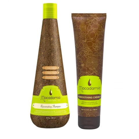 Macadamia Kit hydratant cheveux secs shampooing 300ml crème anti-frisottis 148ml