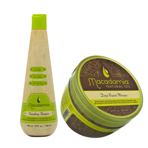 Macadamia Kit Shampooing Anti-Frisottis 300ml et Masque Restructurant 470ml