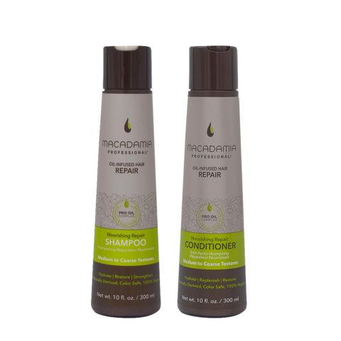 Macadamia Set Cheveux Abimés Shampooing 300ml et Baume 300ml