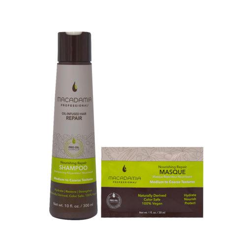 Macadamia Set Cheveux Abimés 300ml Et Masque 30ml