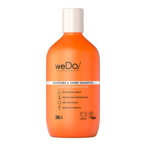 weDo Moisture & Shine Shampooing sans sulfate pour cheveux normaux ou abîmés 300ml