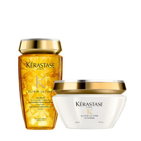 Kerastase Elixir Ultime Kit Hydratant Shampooing 250ml et Masque 200ml