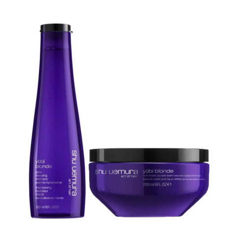 Shu Uemura Yubi Blond Kit Shampooing Cheveux Blonds 300ml Masque 200ml