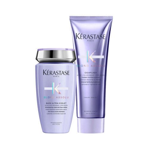 Kerastase Blond absolu Kit Bain ultra violet 250ml Cicaflash 250ml