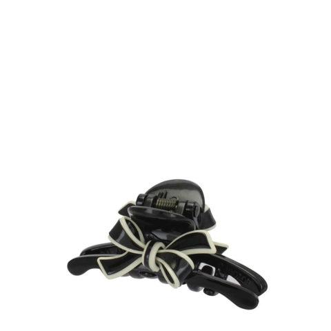 VIAHERMADA Pince à cheveux avec nœud noir