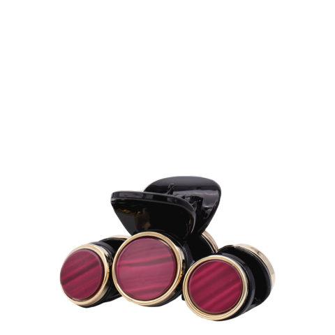 VIAHERMADA Pince à cheveux avec 3 disques de pierre rouge