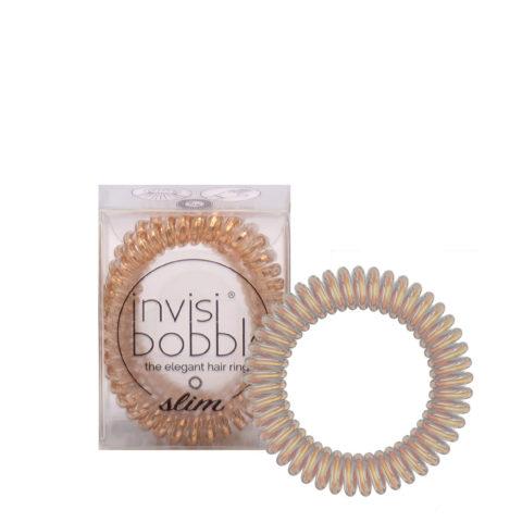 Invisibobble Slim Élastique Bronze métallisé pour cheveux fins
