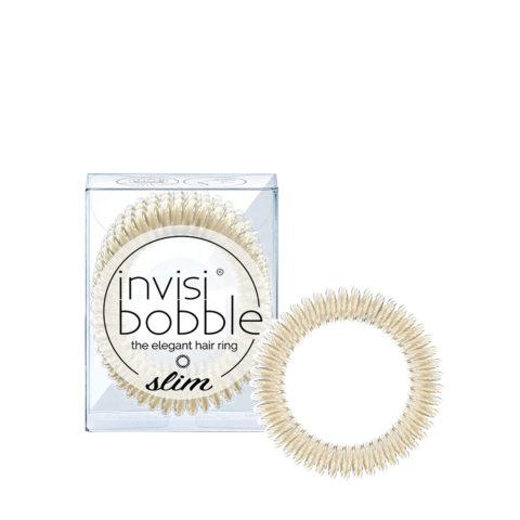 Invisibobble Slim Élastique Platine métallique pour cheveux fins