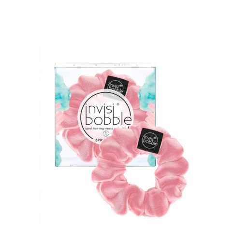 Invisibobble Sprunchie élastique à cheveux vintage en velours rose pastel