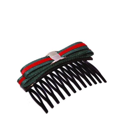 VIAHERMADA Pince à cheveux peigne avec nœud en tissu