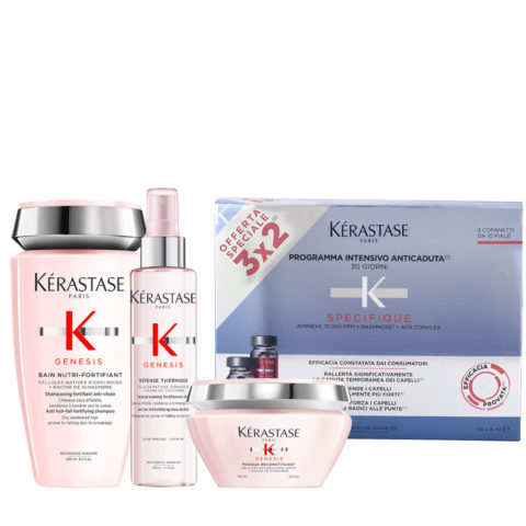 Kerastase Genesis Rituel De Nutrition Intensive Et Protecciòn Cheveux Secs/ Epais + Kerastase Specifique Cure anti chute