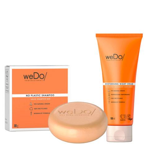 weDo No Plastic Shampooing solide 80gr + weDo Nourishing Night Cream 90ml