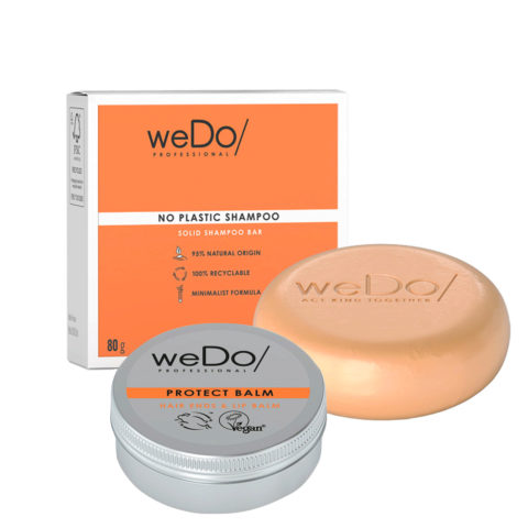 weDo No Plastic Shampooing Solide 80gr + Protect Balm 25gr