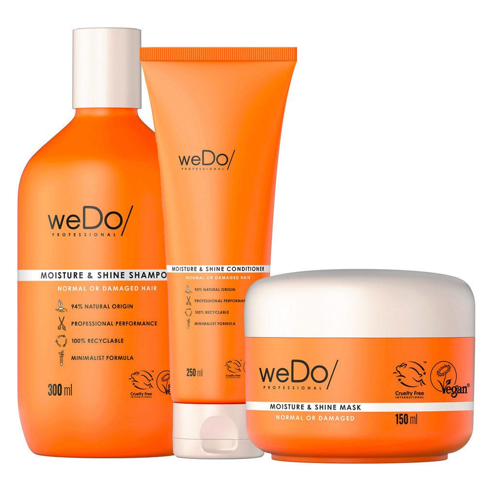 weDo Moisture & Shine Shampoo 300ml + Conditioner 250ml + Mask 150ml