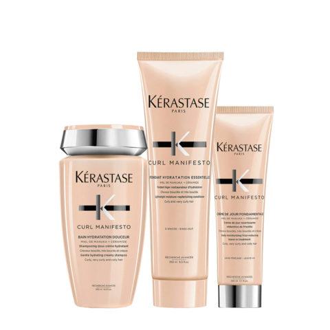 Kerastase Curl Manifesto Kit Cheveux Bouclés Shampooing250ml Revitalisant 250ml Crème 150ml