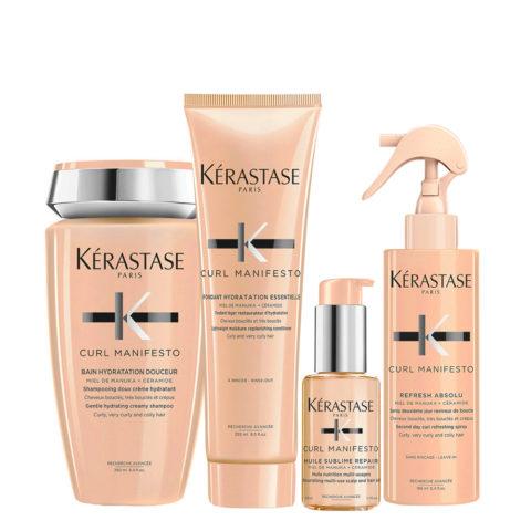 Kerastase Curl Manifesto Kit Bouclés Shampooing 250ml Conditioner250ml Huile50ml Spray150ml