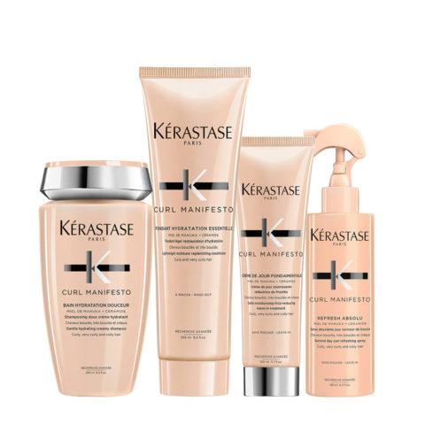 Kerastase Curl Manifesto Kit Cheveux Bouclés Shampooing250ml Revitalisant250ml Crème150ml Spray190ml
