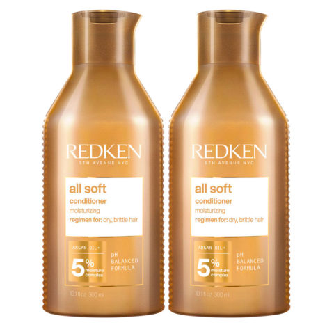 Redken All Soft Kit de 2 Après-shampooing Format Spécial 500ml+500ml