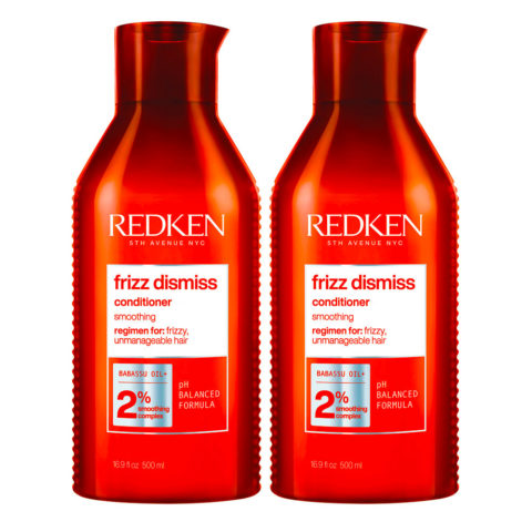 Redken Frizz Dismiss Kit de 2 Après-shampooing Format Spécial 500ml+500ml