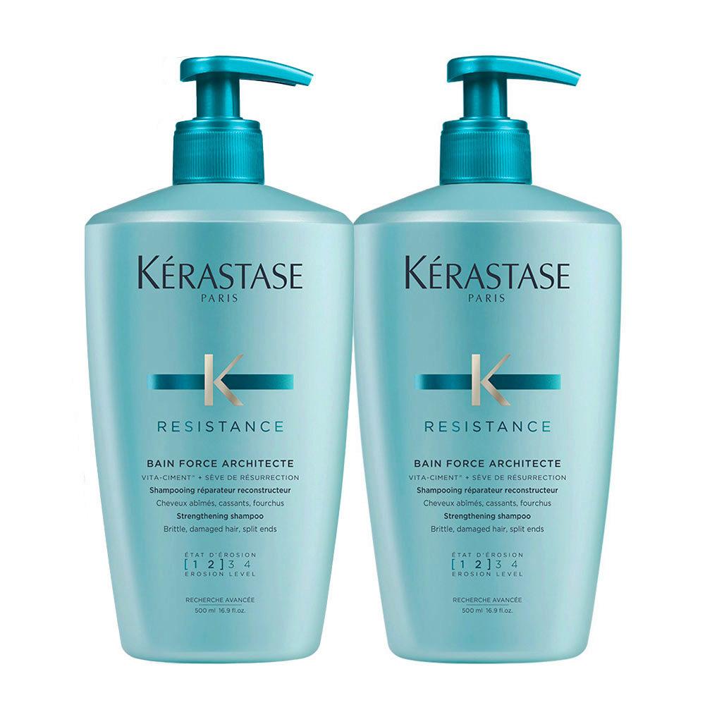 Kerastase Résistance Bain Force Architecte Kit 2 Shampoo 500ml +500ml