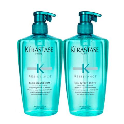 Kerastase Resistance Extentioniste Kit 2 Shampoo 500ml+ 500ml - Shampooing booster de longueur