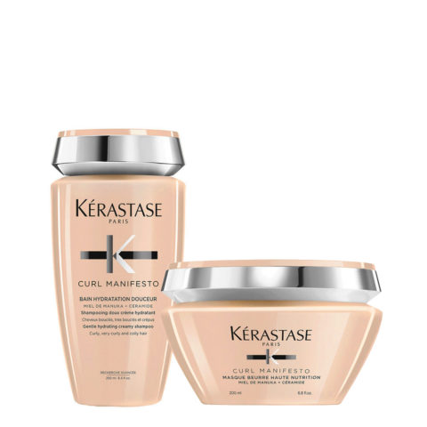 Kerastase Curl Manifesto Kit Shampoo 250ml+Masque Beurre Nourrissant 200ml