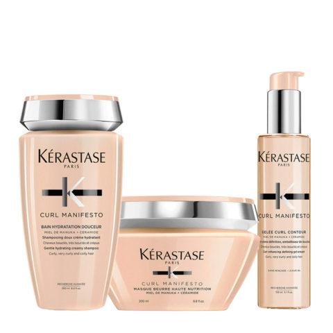 Kerastase Curl Manifesto Kit Shampoo 250ml Masque 200ml Gelée Curl Révélation 150ml