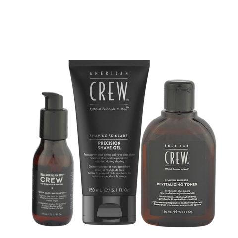 American Crew Kit de Rasage Shave Oil 50ml Shave Gel 150ml Toner 150ml