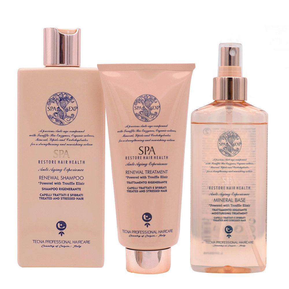 Tecna SPA Kit Shampoo 250ml Treatment 200ml Mineral base 200ml