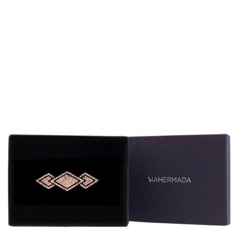 VIAHERMADA Pince à cheveux Matic avec diamants strass ambre