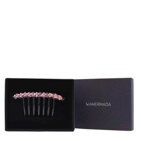 VIAHERMADA Pince à cheveux peigne en plastique avec cristaux roses