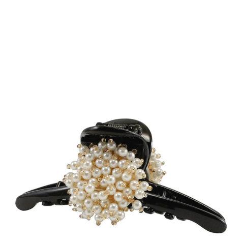 VIAHERMADA Pince à cheveux avec pompon perlé