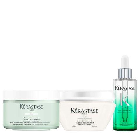 Kérastase Spécifique Argile Equilibrante 250 ml Masque Rehydratant 200ml Sérum Potentialiste 90ml