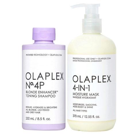 Olaplex kit Intense Toner for Damaged Hair N.4P 250ml Mask 4in1 Hair 370ml