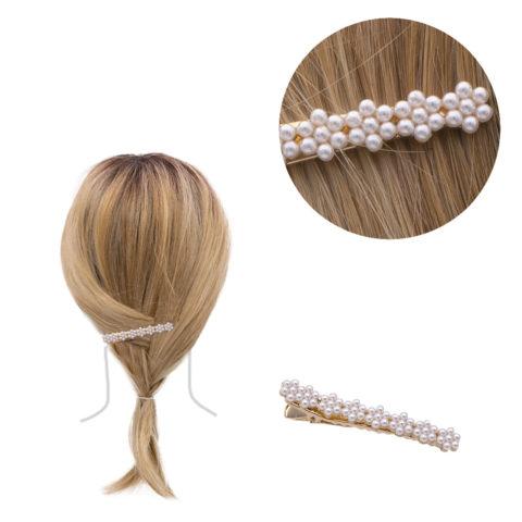 VIAHERMADA Pince à cheveux avec perles 6.2x0.8cm