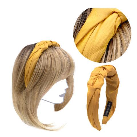 VIAHERMADA Bandeau fait main en tissu jaune
